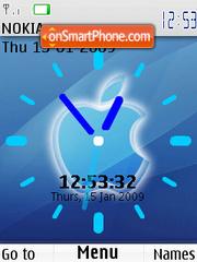 Apple Clock SWF es el tema de pantalla