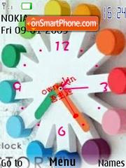 Swf Color Clock es el tema de pantalla