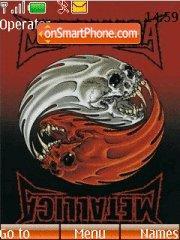 Metallica Yin yang theme screenshot