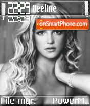 Britney 11 theme screenshot