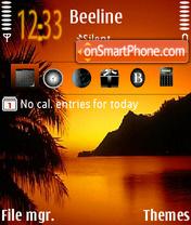 Sunset 05 es el tema de pantalla