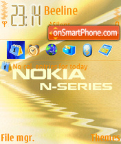 Nokia N Series 01 theme screenshot