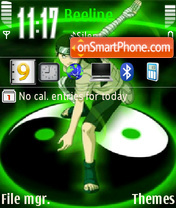 Naruto Neji theme screenshot
