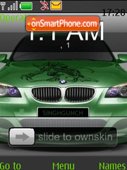 Bmw Clock SWF theme screenshot