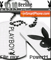 Playboy Black and White 01 theme screenshot