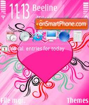 Pink Heart 03 es el tema de pantalla