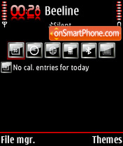 Blackfired v2 theme screenshot