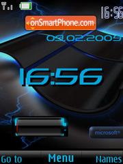 SWF clock $ battery XP theme screenshot