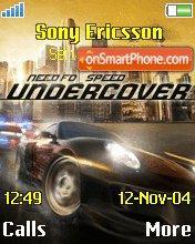 Need for Speed: Undercover es el tema de pantalla