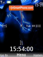 Swf Blue Clock es el tema de pantalla