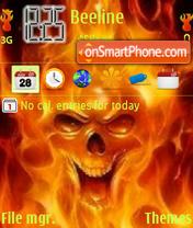 Fire Skull V8 es el tema de pantalla