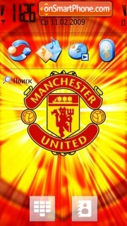 Manchester United 2008 theme screenshot