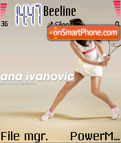 Ana Ivanovic 01 theme screenshot