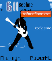 Rock Emo theme screenshot