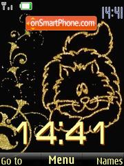 SWF clock cats theme screenshot