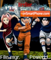 Konoha team 7 theme screenshot