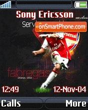 Cesc Fabregas theme screenshot