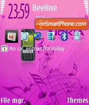 73me Pink theme screenshot