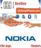 Nokia Connecting People 01 theme screenshot