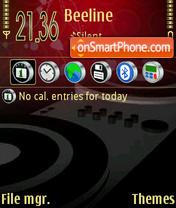 Red Music 01 theme screenshot