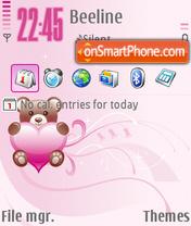Pink Heart 04 es el tema de pantalla