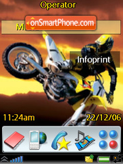 Super Cross theme screenshot