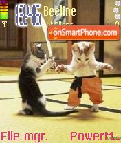 Cat Karate es el tema de pantalla
