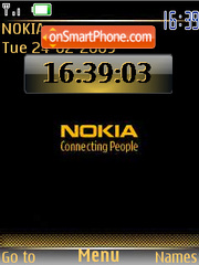Capture d'écran Gold Nokia clock thème