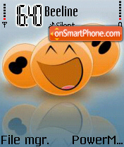 Orange Smiley es el tema de pantalla