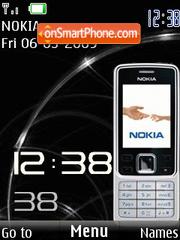 Capture d'écran SWF Nokia 6300 clock thème