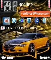 BMW orange es el tema de pantalla