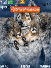 Wild Wolfs theme screenshot