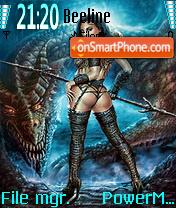 Girl and Dragon es el tema de pantalla