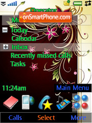 Abstract Flowers theme screenshot