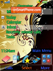 Abstract Brown Flowers theme screenshot