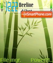 Bamboo es el tema de pantalla