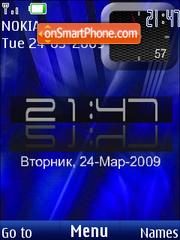 SWF clock $ rusian date theme screenshot
