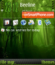 Forest Green icons FP1 tema screenshot