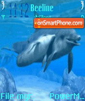 Animated Dolphins es el tema de pantalla