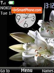 SWF clock2 lily theme screenshot
