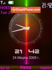 SWF analog clock $ rus.date theme screenshot