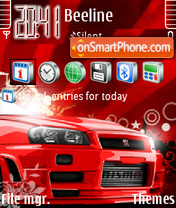 Red vec Skyline fp1 es el tema de pantalla