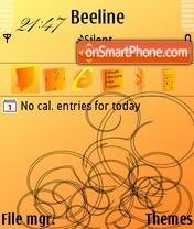 Orange 12 es el tema de pantalla