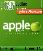 Apple v1 Green edition theme screenshot