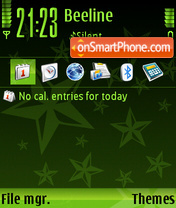StarGreenSB tema screenshot