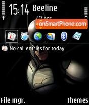 Batman (F icon) theme screenshot