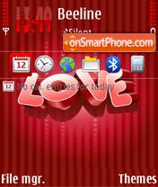 Red Love 01 es el tema de pantalla
