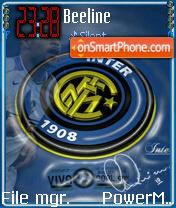 Inter Milan Football Club theme screenshot