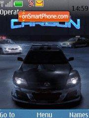 NFS Carbon tema screenshot