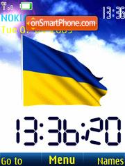 SWF clock Ukraine flag anim theme screenshot